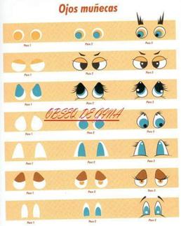 Modelos de olhos e bocas para fofuchas e bonecos em geral