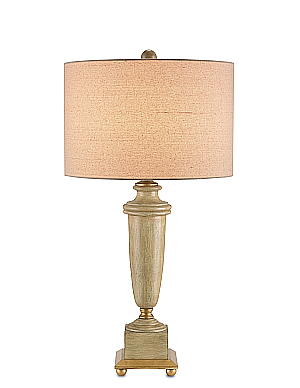 washed wood classic vase lamps