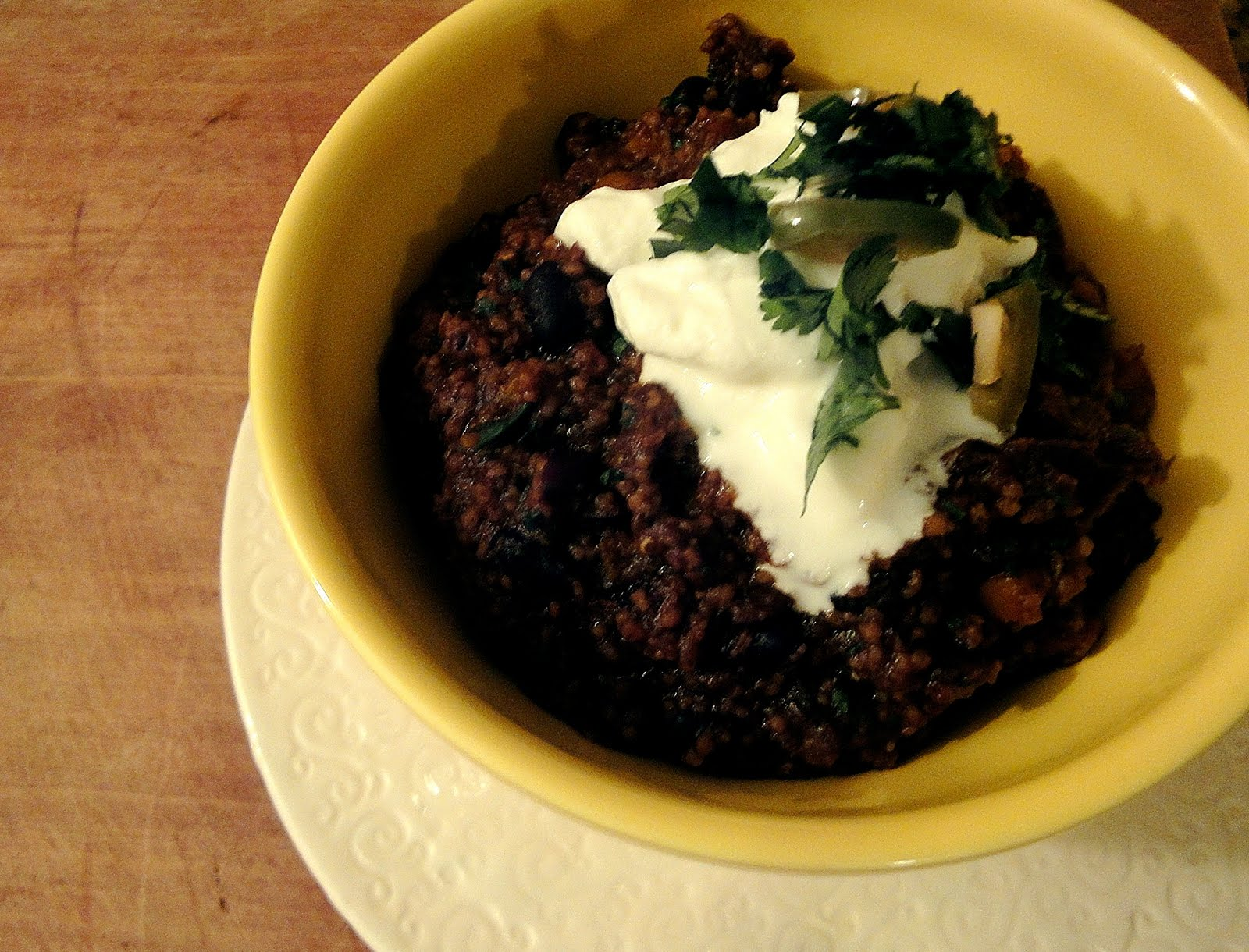 "... Takes a Bite: Black Bean Chili with Butternut Squash: A year of ""yes"