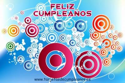 Feliz Cumpleaños círculos de colores