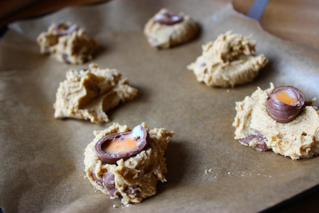 Cadbury egg cookie recipe