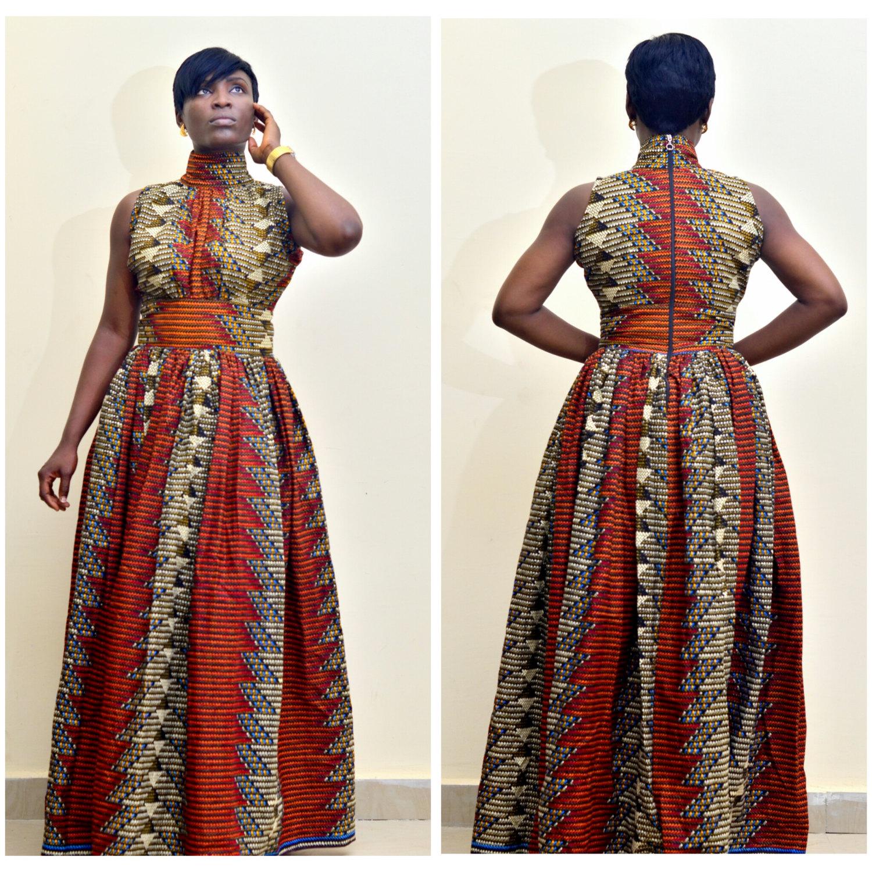 African Print Maxi Dresses