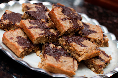 Peanut Butter, Banana, and Nutella Bars