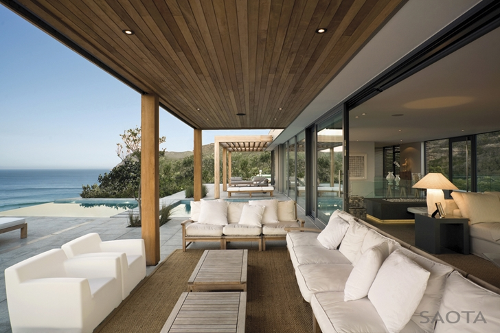 White furniture in Beautiful Plett 6541+2 Home by SAOTA
