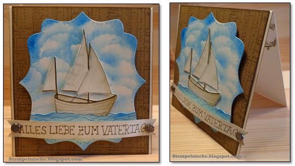 Segelschiffkarte für Vatertag