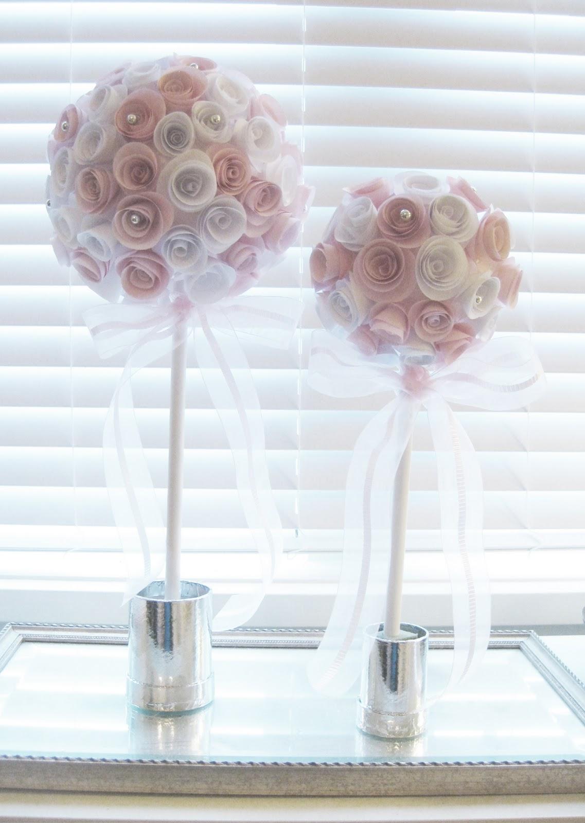 Life designed diy paper rose topiaries