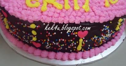 Cara Membuat Cake Hello Kitty D