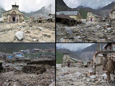 Kedarnath on 16-17 June 2013