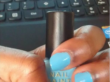 My Nail Polish of the Moment: Barry M Blueberry Ice Cream + Pastel Nails