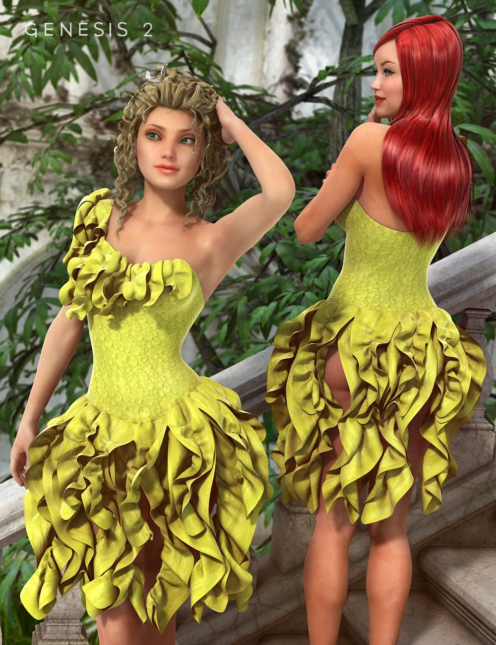 Robe Canaries pour Genesis 2 Femme