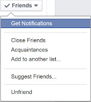 Friend Options on Facebook