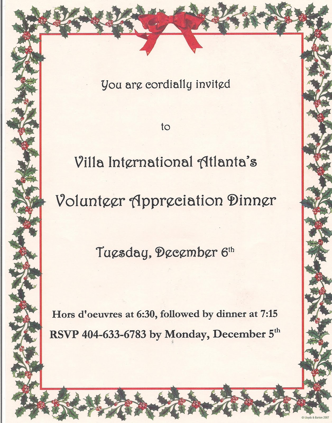 Blog Villa International Atlanta Annual Volunteer Appreciation Dinner