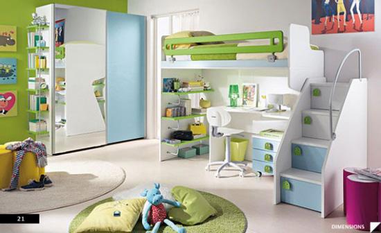 interior kamar tidur anak minimalis modern model rumah
