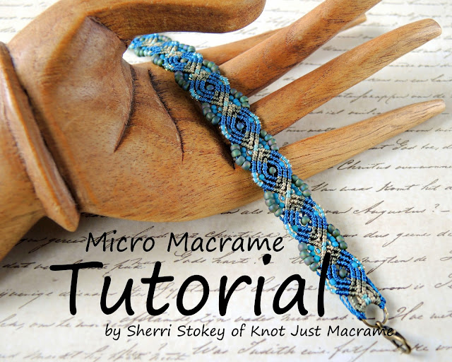 Micro Macrame Tutorial for Peacock Bracelet by Knot Just Macrame