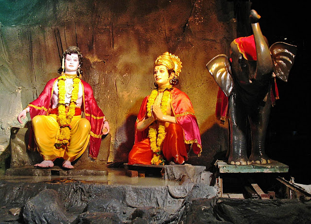 gods and goddesses at the pandal