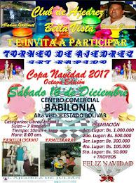 """VIII Torneo IRT """"COPA NAVIDAD 2017 del Club de Ajedrez Bella Vista"""""""