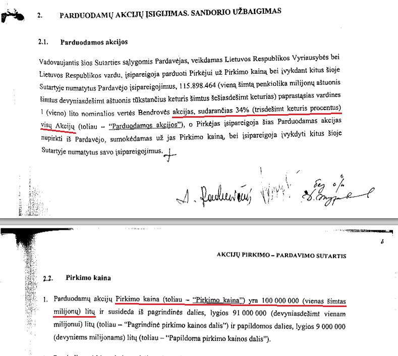 Sutartis su Gazprom
