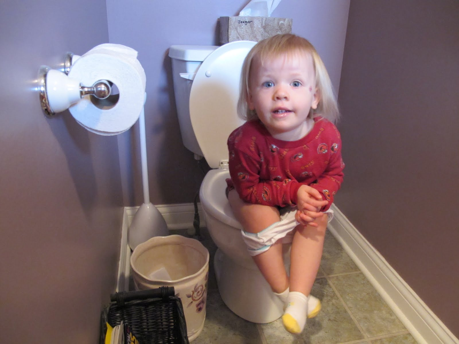 how to get a baby to poop in the toilet