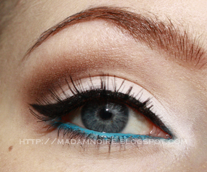 Step 5 On Your Lower Waterline Apply A Bright Blue Or Turquoise Eyeliner Pencil Im Using MAC Chromagraphic In Hi Def Cyan