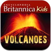 Britannica Kids volcanoes itunes app icon