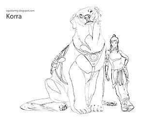 avatar legend of korra coloring pages naga