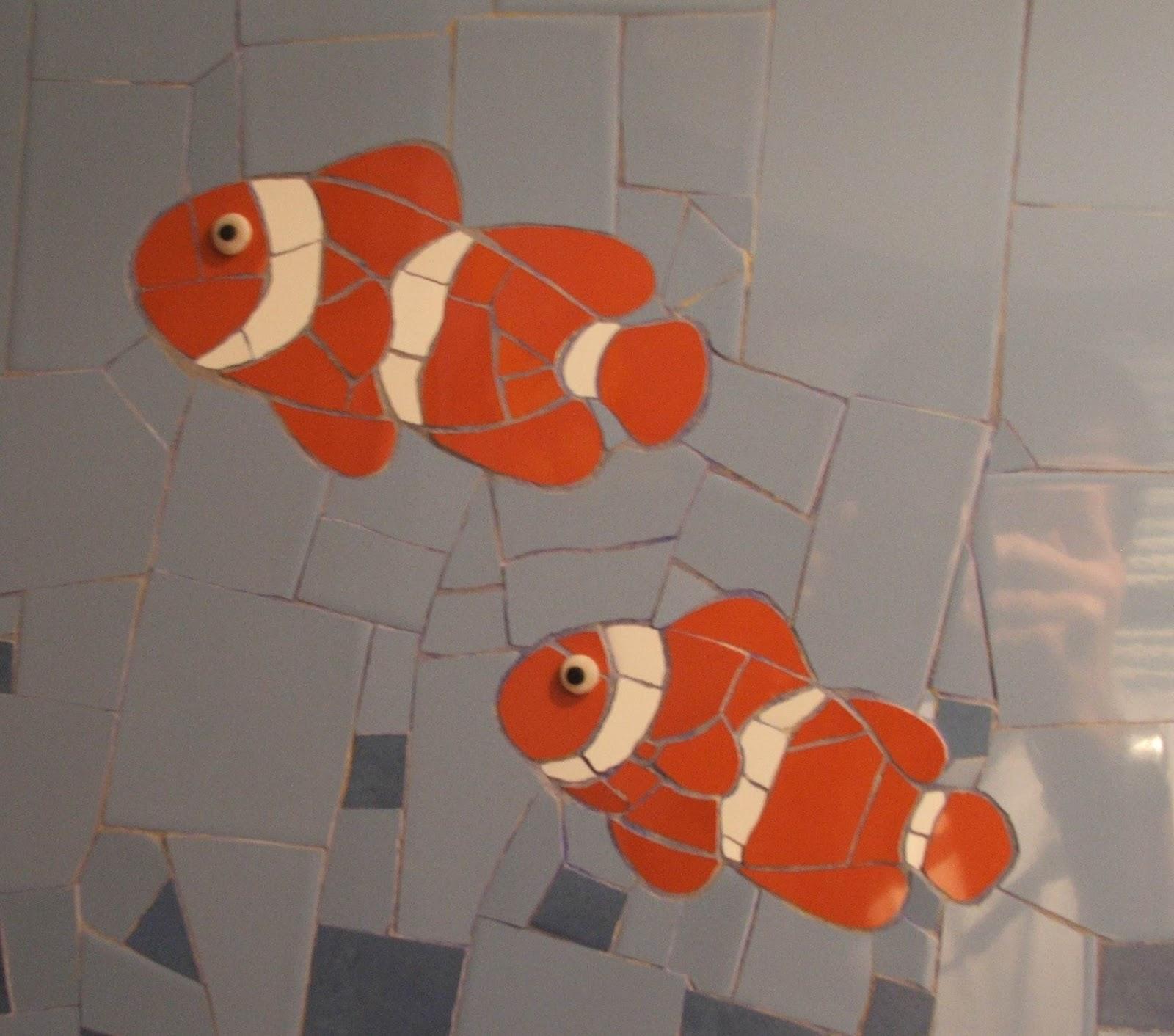 Séverine peugniez créations: fresque marine en mosaïque dans une ...