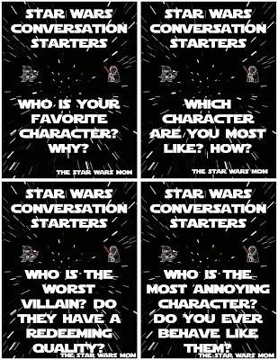 Star Wars Conversation Starters Free Printables