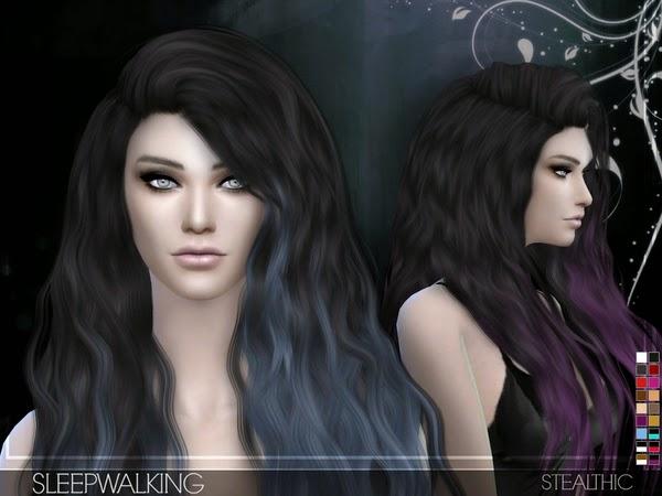 My Sims 4 Blog Stealthic Sleepwalking Hair For Females