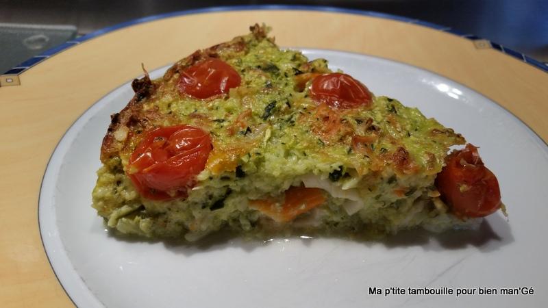 Ma p 39 tite tambouille pour bien man 39 g quiche sans p te courgettes surimi tomates cerise avec - Cuisine legere thermomix ...