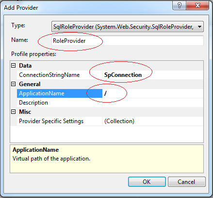 .NET Roles provider