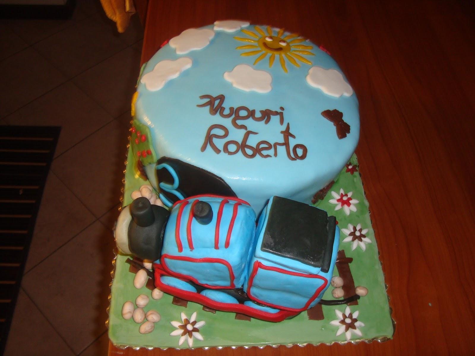 Le torte di mari torta per il compleanno di roberto for Decorazioni torte trenino thomas