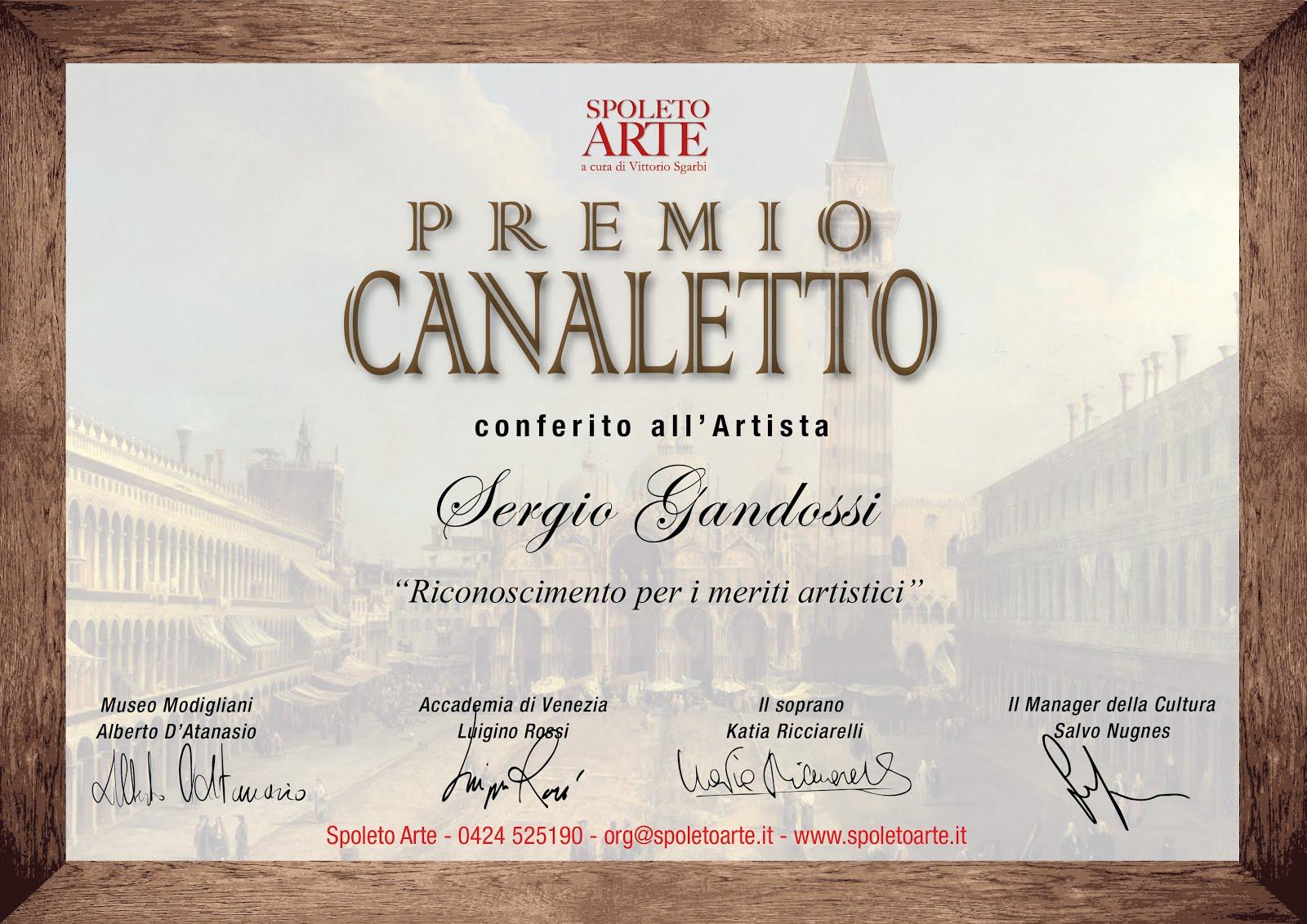 Premio canaletto spoleto arte a cura di Vittorio Sgarbi
