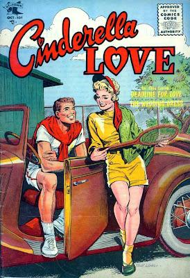 Cinderella Love v2 #29 st.john romance comic book cover art by Matt Baker
