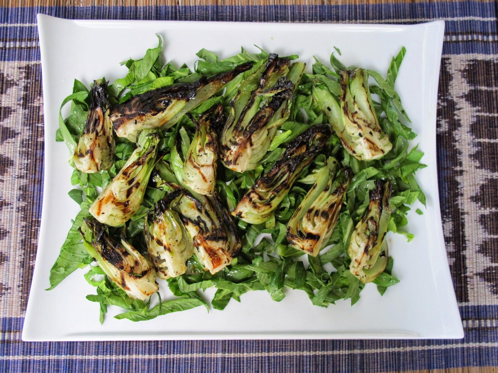 Grilled Sesame Soy Bok Choy Salad