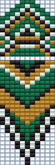 схема бисероплетение серьги гобеленовое плетение этника бахрома