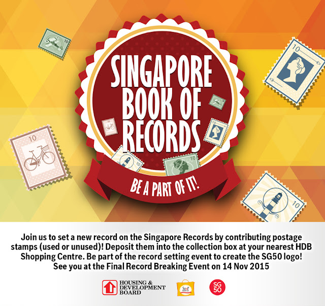 Singapore Book Records - largest SG50 Logo using stamps