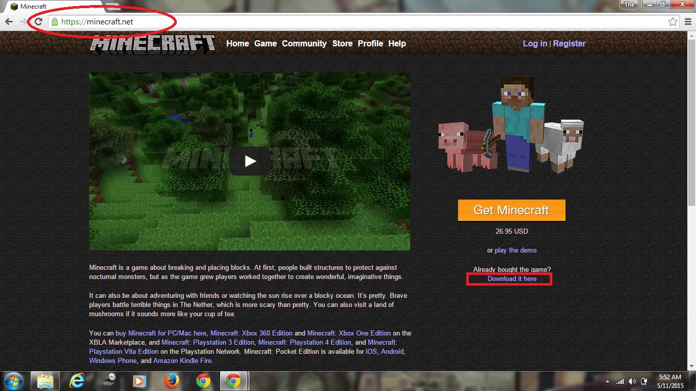 официальный сайт minecraft скачать на русском