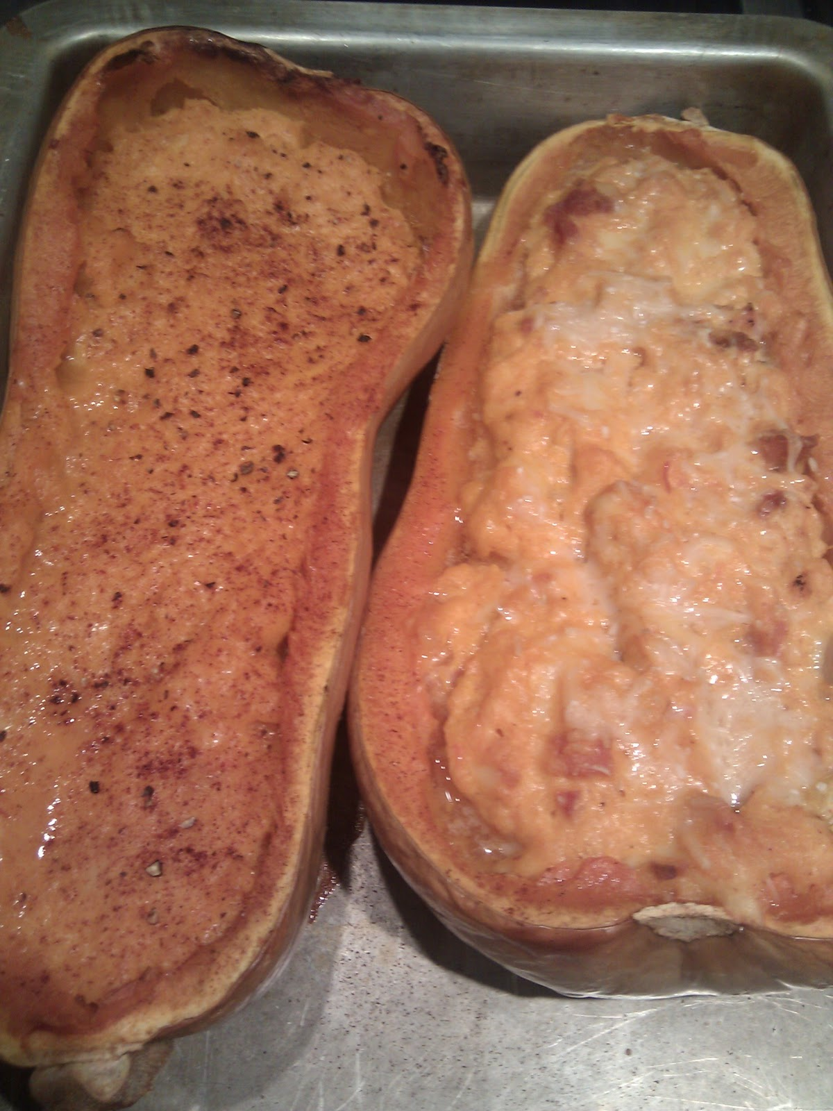 Recipe: Twice Baked Butternut Squash | Me and Jorge: Belly Fat Cure ...