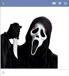 Ghostface Emoticon From The Scream Movie