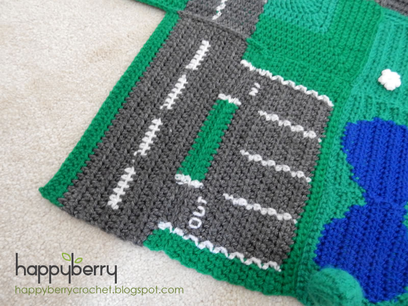 Happy Berry Crochet How To Crochet A Car Park And Side Road Road