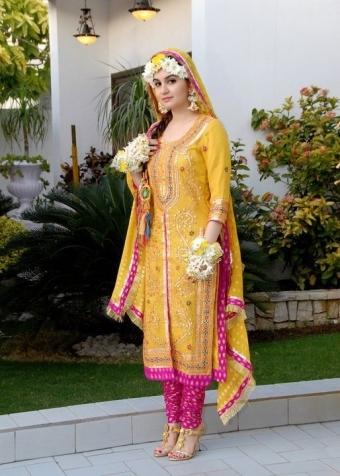 Mayoon and Mehndi Dress - Bridal Mehendi Dressez