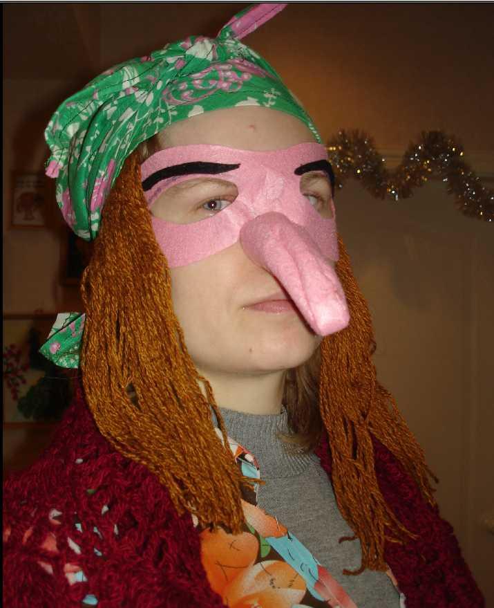 Нос для костюма бабы яги своими руками 6