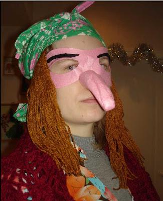 Нос бабы яги взрослый 37