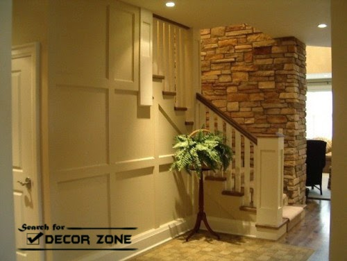 Staircase renovation options: stone wall (8 designs)