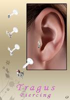 Ear tragus body jewelry