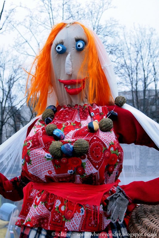 Scarecrow woman - Užgavénés - Vilnius, Lithuania