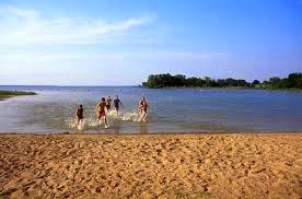 The beach at Lake Tawakoni in Van Zandt County.