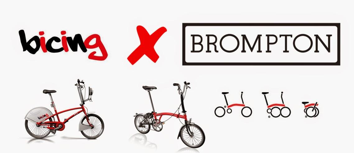 bicicletas brompton barcelona bicing plegales