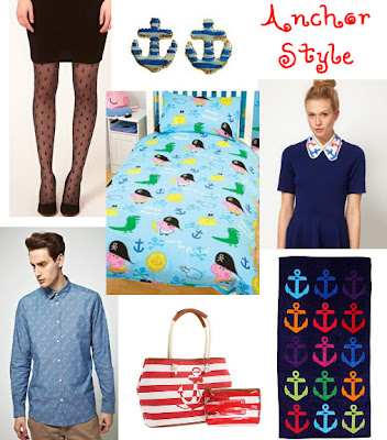 anchor style for nautical styling at home and clothing