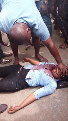 Graphic Photos: Young Lady Killed Today At Biafra Protest In Onitsha